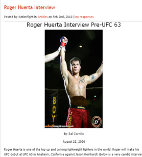 Roger Huerta Interview