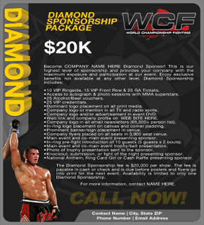 Sponsorship Package Sample