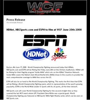 WCF Press Release Sample